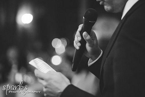 Must have wedding photos: Best man's speech.  photosparks.com