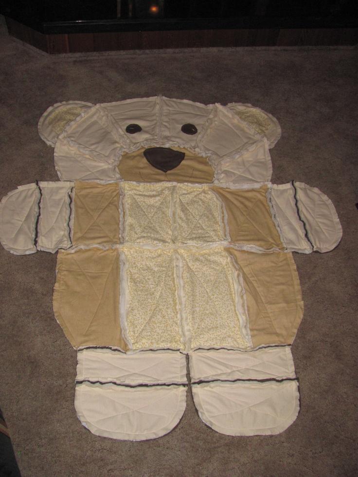 Rag Quilt Pattern Bear : Teddy Bear rag quilt Quilting Rag Pinterest