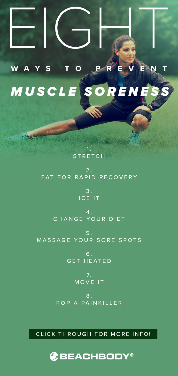 Aching after a brutal workout? Delayed-onset muscle soreness (DOMS) can make you feel the burn while your muscles recover and rebuild. But, if you take the right steps after your workout, you can go hard without paying the price. Here are 8 easy ways to prevent post-workout pain. // fitness // tips // exercise // athletes // sore // Beachbody // BeachbodyBlog.com