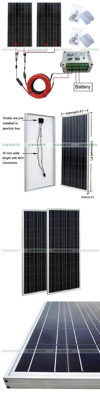 Solar Panels 41981: 2*100W Complete Kit: 200W Watts Pv Solar Panel With Controller Off Grid Rv Boat -> BUY IT NOW ONLY: $287.99 on eBay!