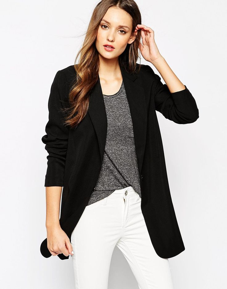 I have a blazer like this   Image 1 ofSelected Gitta Long Structured Blazer