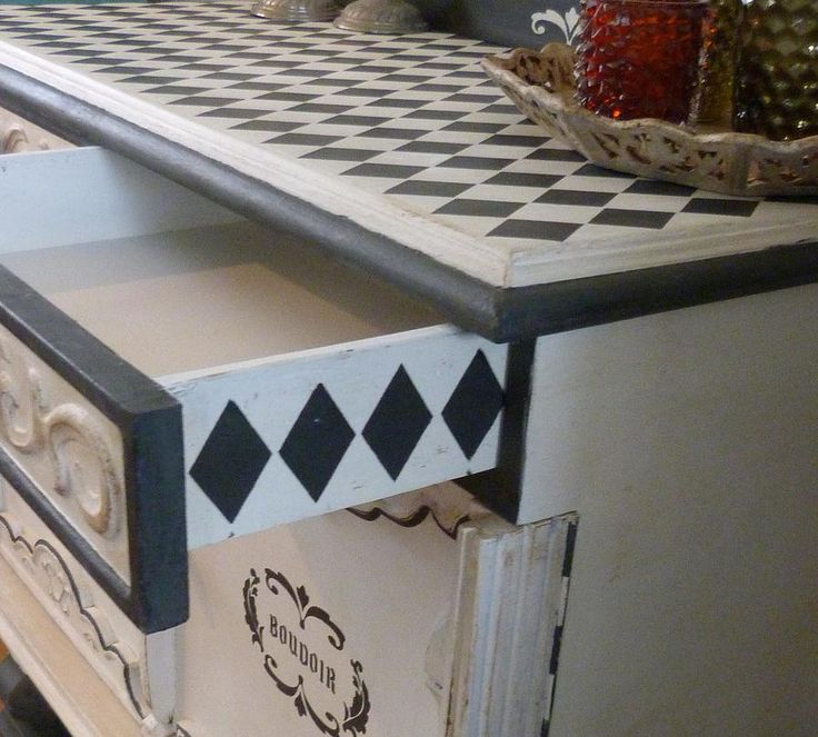 Details are everything.... My version of a Boudoir dresser. By Dress it up NL
