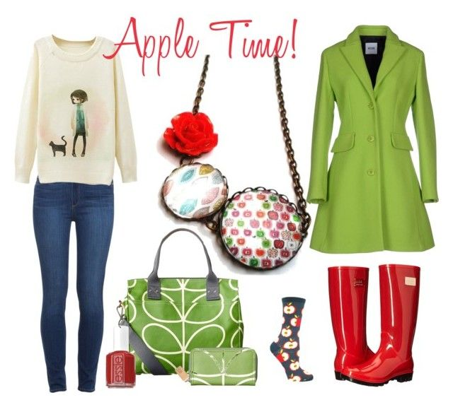 """""""Apple Time"""" by hemos on Polyvore featuring Orla Kiely, Moschino Cheap & Chic, Nicole Miller, Paige Denim and Essie"""