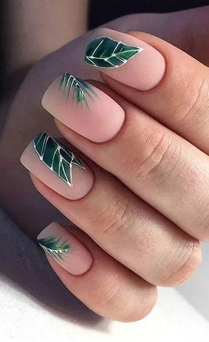 27 Chic and Stylish Summer Nail Design Ideas  #NailDesign