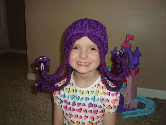 Celia Monsters Inc inspired wig hat by LilCutieCreations on Etsy