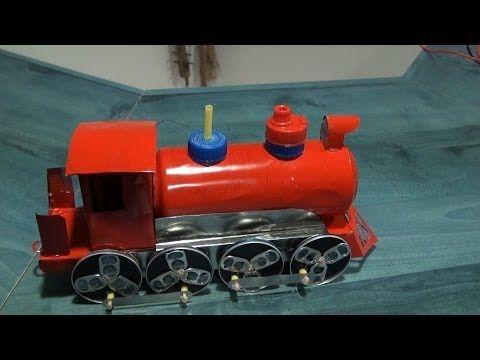Locomotora de latas - YouTube