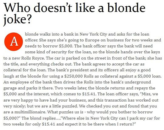 Blondes Aren't As Dumb As People Think