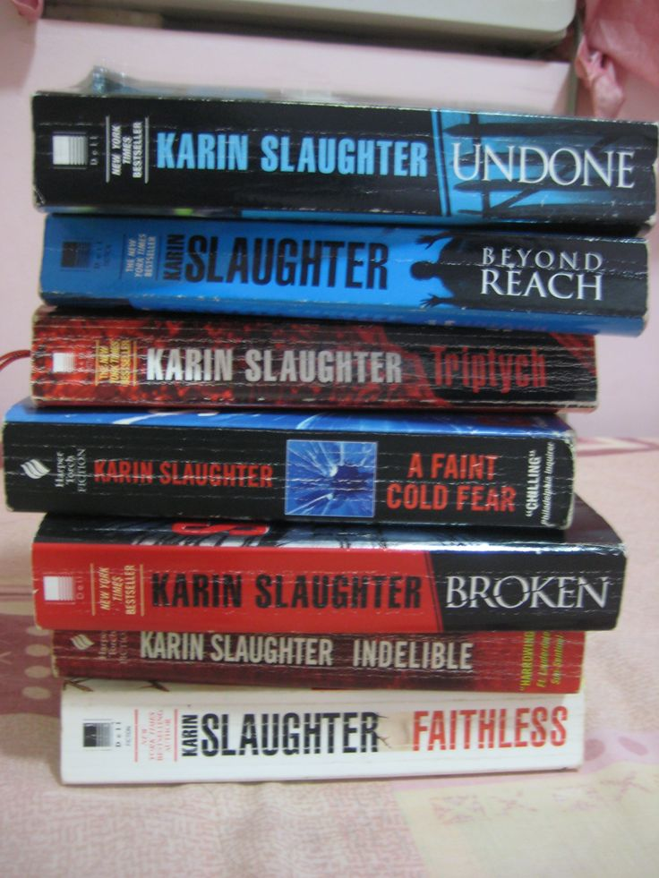 my collection ~ Karin Slaughter's books