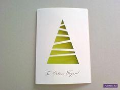 """Existuje množství vánočních přání: bohatě ozdobené,""""svíticí"""" všemi barvami duhy, nebo úplně jednoduchými, ale o nic méně originálními. Takové minimalistické přáníčko vytvoříte během 10 minut, ale radost tím uděláte nesrovnatelně větší. Budete potřebovat: – Papír na osnovu – Zelený (může být i jinak barevný) papír, nejlépe oboustranný – Lepidlo v tužce nebo oboustrannou lepicí pásku – […]"""
