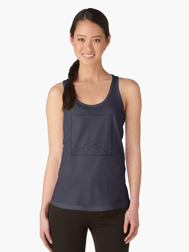 Mountain Workout Tank Top Geometric Outdoor Adventurous design   by GeometricLove
