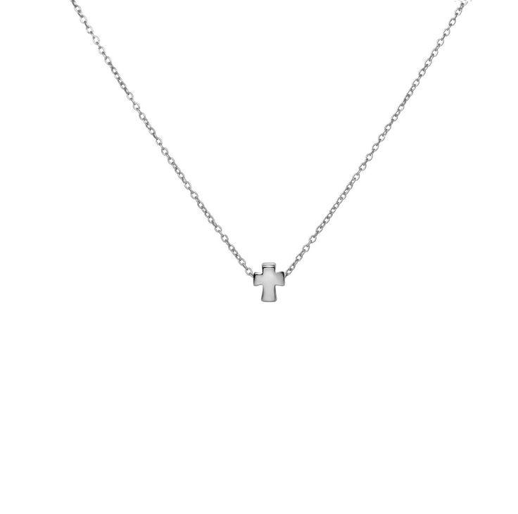 Tiny Silver Cross Necklace
