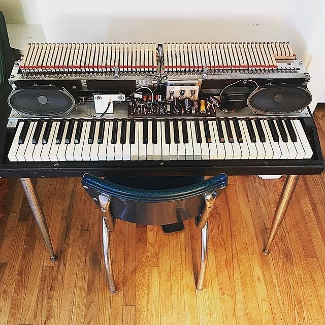 """My 40 yr-old #wurlitzer piano is in tip-top shape thanks to a new reed from @vintagevibe and some minor adjustments w/ my ."" Glad we could help @brettewagner Happy Wurlitzer Wednesday! #vintagevibe #wurly #electrickeyboard #wurlitzer #electricpia"