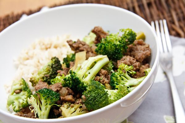 Hamburger stir fry. An American take on beef and broccoli. Get the recipe chefjulieyoon.com...