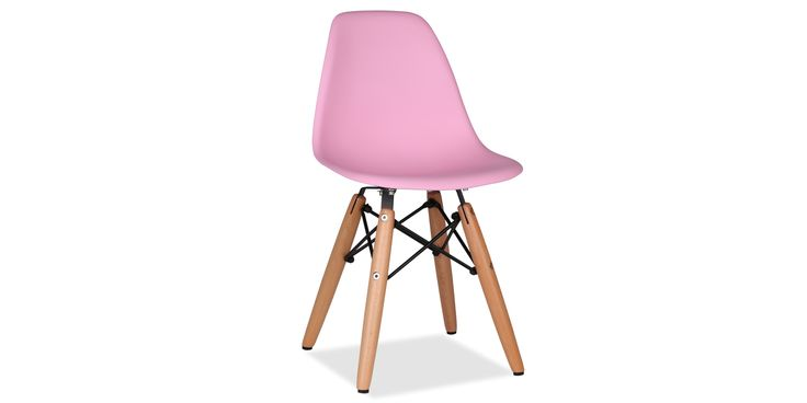 DSW Children's Chair plastic yellow - Plast - Rosa
