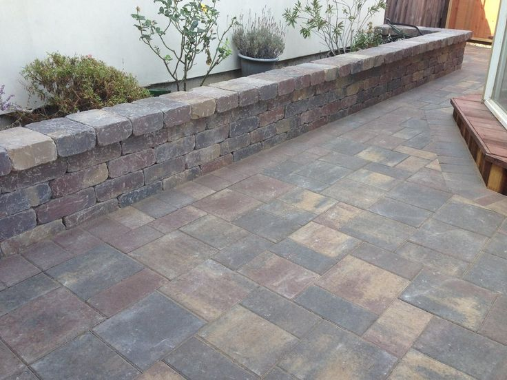 Flagstone Stamped Concrete Patio