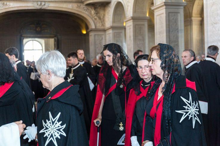 Cérémonie d'admission de Madame la duchesse d'Anjou dans l'Ordre Souverain de Malte.