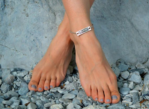 silver anklet, ankle bracelet boho, summer anklets, beach anklets, boho anklet, anklet for woman, believe anklet, motivation anklet, silver,
