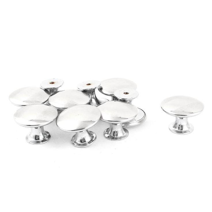 Pomelli da tirare per armadietti,porte e cassetti,30x21mm,color argento con testa rotonda,10 pezzi: Amazon.it: Casa e cucina