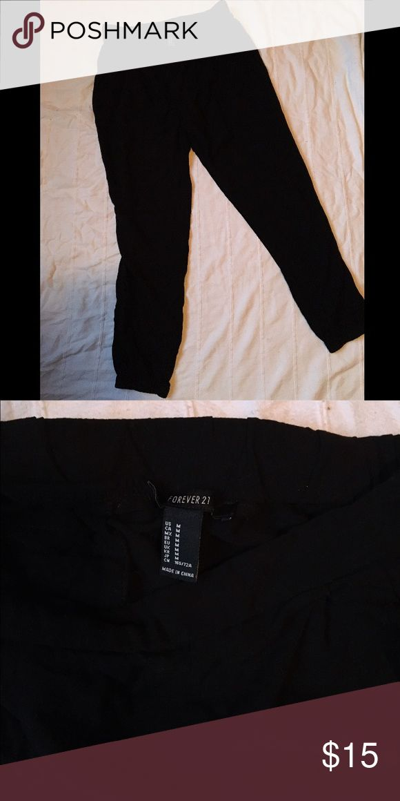 Black Harlem pants In perfect condition only wore once Forever 21 Pants Trousers