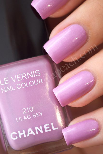 Chanel Lilac Nails. A woman could get anything she wanted with this color. Yes, it's that simple.