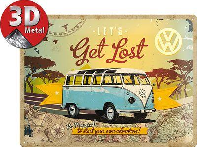 Volkswagen - Let's Get Lost Plaque en métal sur AllPosters.fr