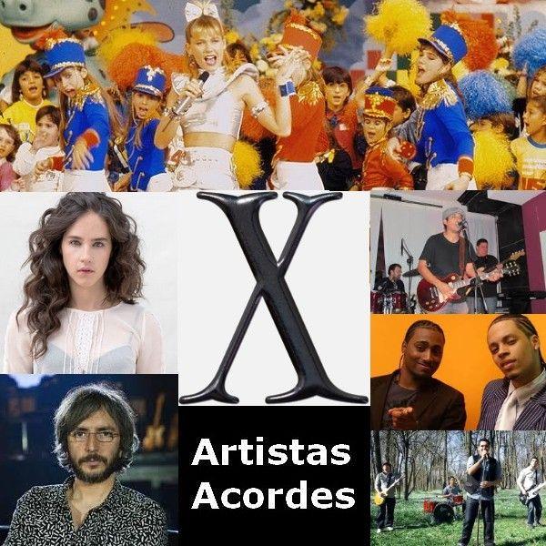 Artistas con X (Lista) canciones con letras y acordes de guitarra y piano