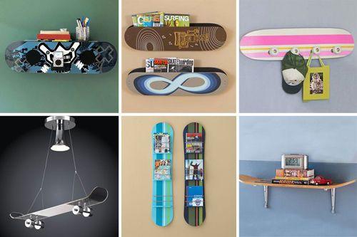 Decorando con tablas de skate