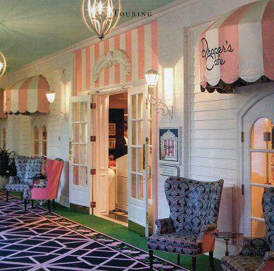 Adorable cafe in the Greenbrier Hotel, WV. Adorable. via parishotelboutique shop blog