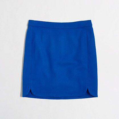 """<ul><li>Wool/viscose rayon.</li><li>Sits at waist.</li><li>16 1/2"""" long.</li><li>Back zip.</li><li>Lined.</li><li>Dry clean.</li><li>Import.</li></ul>"""