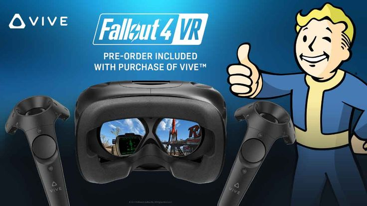 """HTC Vive: Bundle with """"Fallout 4 VR"""" available now"""