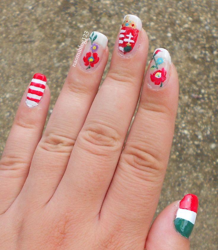 Hungarian nail, matyó, kalocsa, kalocsai, nail, folk nail,