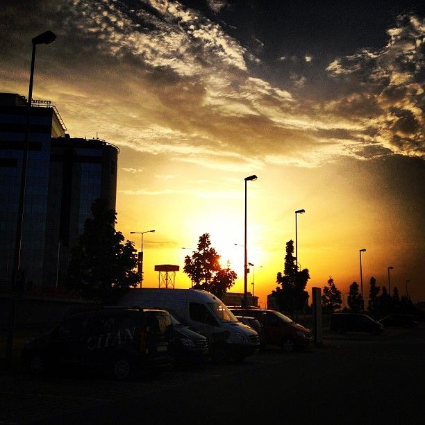 Západ slunce na Chodově