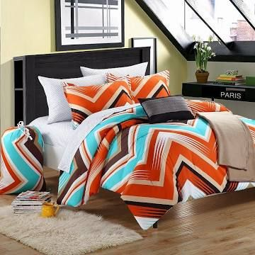 teen bedding comforter sets full brown teal - Google Search