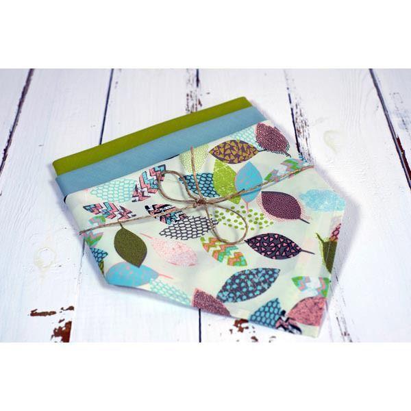 mouchoirs en coton bio feuilles pastels zéro déchet