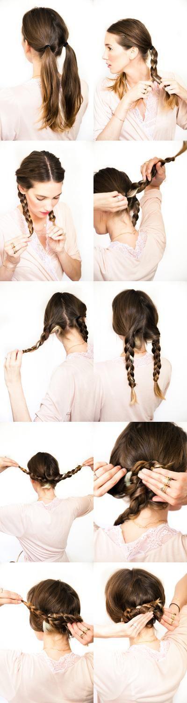 DIY wedding hair: Pretzel braid Tutorial
