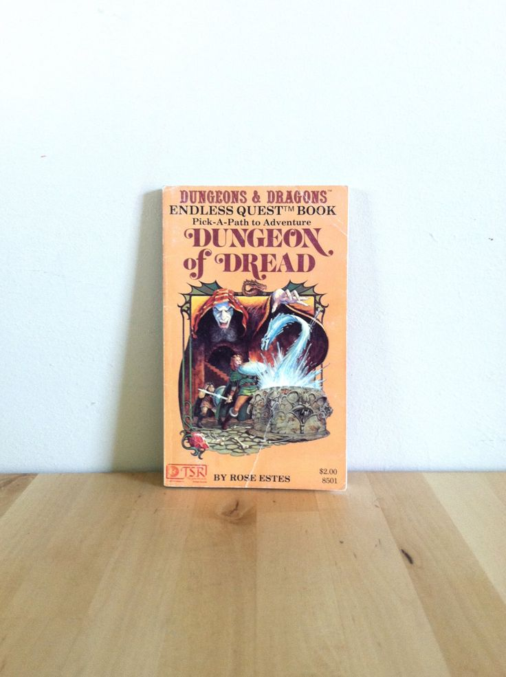 Dungeons and Dragons Endless Quest Book #1: Dungeon of Dread 1980s Fantasy Choose Your Own Adventure Book Vintage Teen & Childrens Book Fun