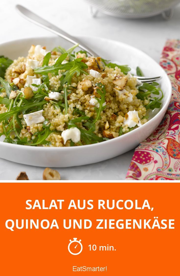 Salat aus Rucola, Quinoa und Ziegenkäse