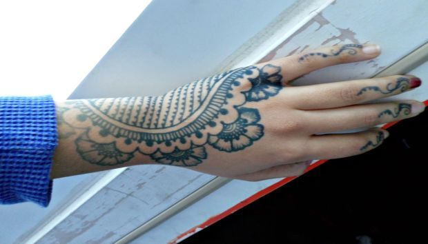 Traditional henna design done with jagua.