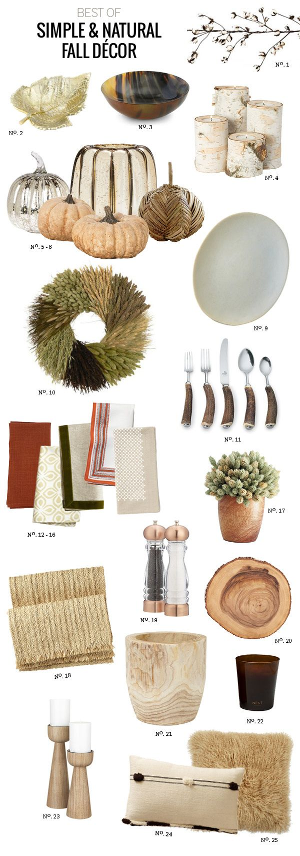 Best Of: Simple & Natural Fall Décor by Modern Eve @Laura Simms - this makes me think of you