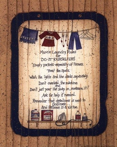 Mom S Laundry Rules By Linda Spivey Laundry Signs