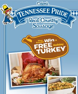 Odom's Tennessee Pride Gobble Instant Win Sweepstakes – Win a $20 Visa gift card! -ends 12/15/13