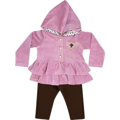 Conjunto Bebê Menina de Inverno em Plush Cor Lilás - Nini & Bambini :: 764 Kids   Roupa bebê e infantil