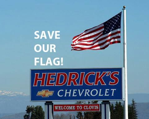 Attention Friends who enjoy this beautiful flag! The Cell Tower Company Who owns the Flag Pole is formally requesting to remove the American Flag and add an antenna to the top of the pole.  The public hearing will be Thursday, August 27th in the Clovis City Council Chamber at 6pm. You may write a letter in opposition and email to Bryan Araki by 3 pm Thursday, 8/27 bryana@cityofclovis.com