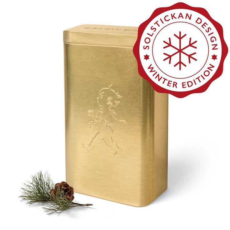 Produkten Kaffeburk Guld säljs av Solstickan Design