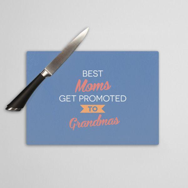 Best Moms get promoted - szklana deska do krojenia w artiglo na DaWanda.com