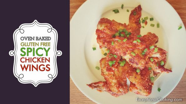 Oven Baked Gluten Free Spicy Chicken Wings