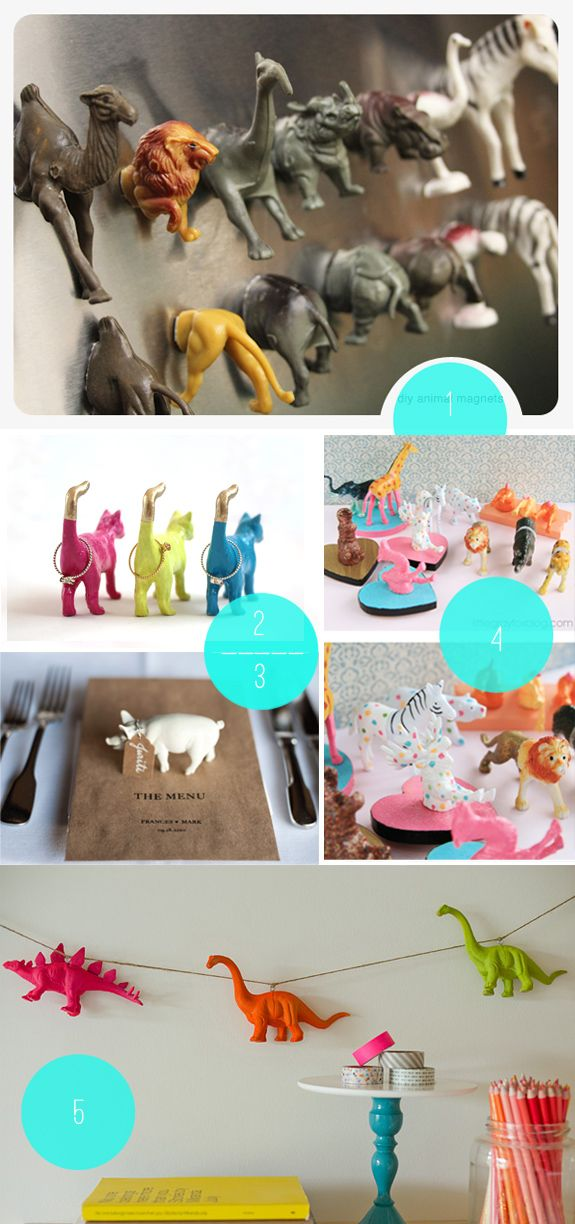 Plastic Animal DIY Roundup