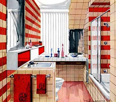 Nice 6144df7f0a1c98f1578353cc0bb2f24f  Retro Bathroom Decor Bathroom Red
