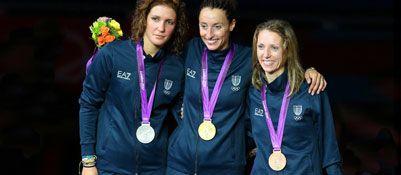 Di Francisca vince il derby : con la Vezzali di bronzo è leggenda, podio tutto azzurro - Olimpiadi 2012 Corriere.it