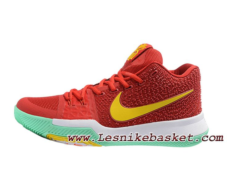 Nike Kyrie 3 ID 852395_ID6 Rouge/Jaune Chaussures NIke prix Pour Homme